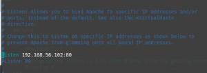 vim /etc/httpd/conf/httpd.conf