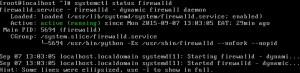 service firewalld status