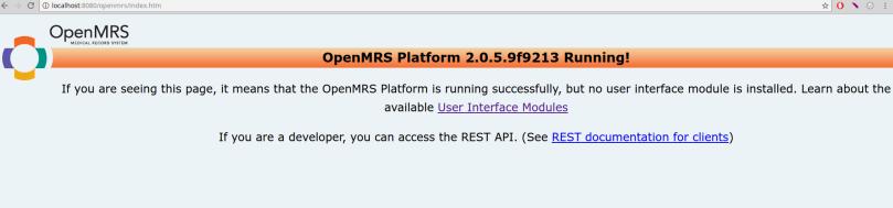 Platform 2.x successful installation screen